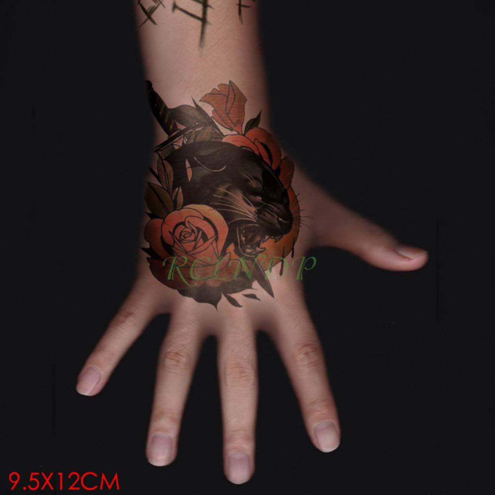 ljmljm 5pcs Impermeable Tatuaje Totem Negro Línea Flecha Etiqueta ...