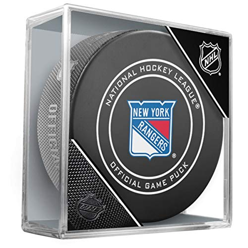 New York Rangers Official Game Hockey Puck with -