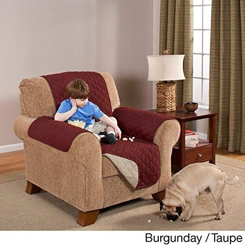 Elegante Luxurious Reversible RECLINER Furniture Protector, Burgundy /...