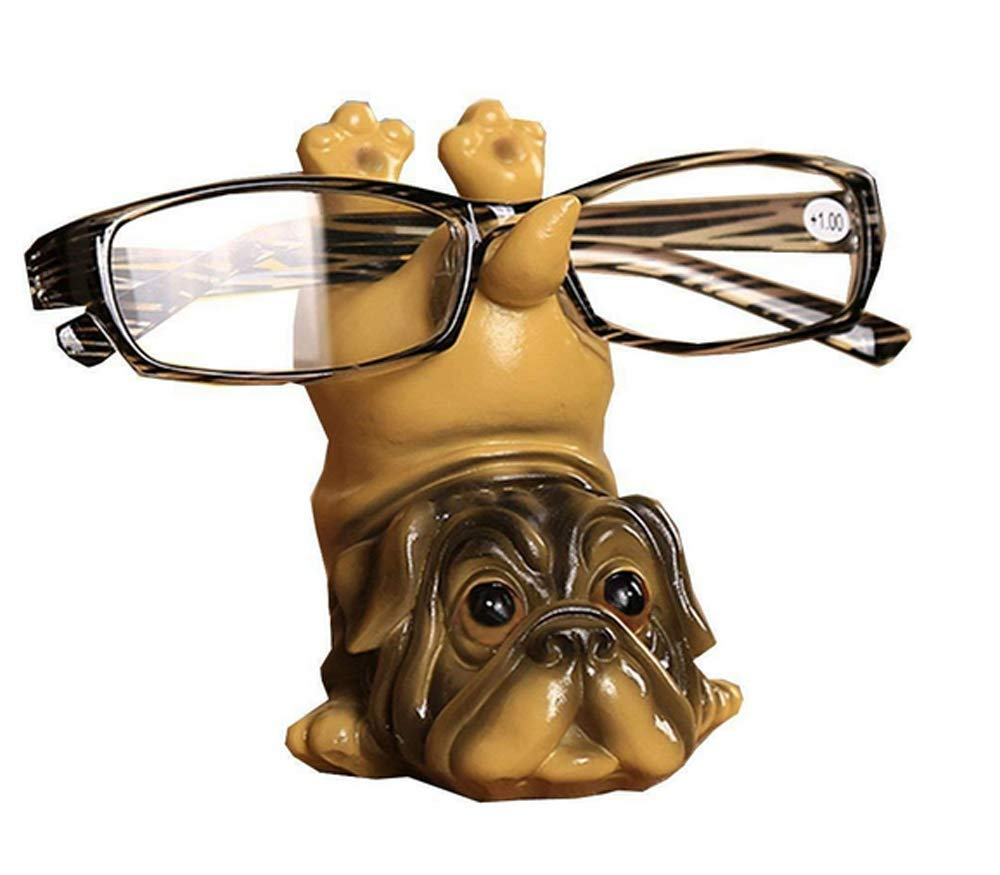 1PCs Cute Dog Animal Glasses Stand Resin Crafts Lovely Eyeglasses Sunglasses Stand Holder Rack Animal Home Decor Best Gift (9)