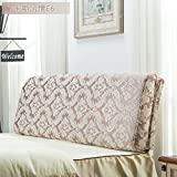 Plant flower bed soft bag Double tatami pillow European-style headboard cushions Back Cushion Bed cover-D 200x60cm(79x24inch)