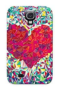 Improviselike High Quality Shock Absorbing Case For Galaxy S4-heart Mosaic