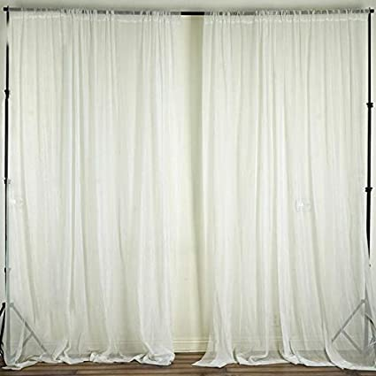 Amazon Efavormart 10FT Fire Retardant Ivory Sheer Voil Curtain