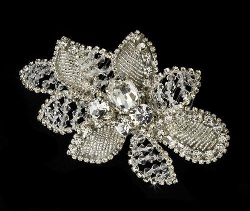 Noelia Swarovski Crystal Rhinestone Flower Bridal Wedding...
