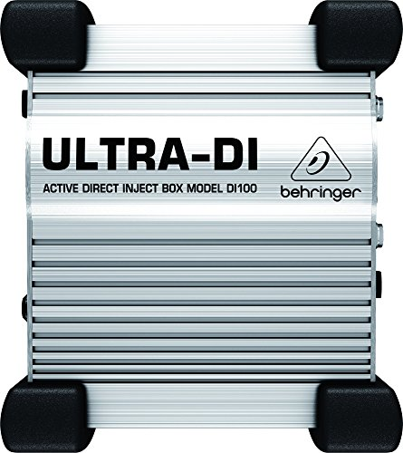 Phantom Powered Di Box - Behringer Ultra-DI DI100 Professional Battery/Phantom Powered DI-Box