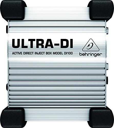 Behringer Ultra-DI DI100 Professional Battery/Phantom Powered DI-Box ()