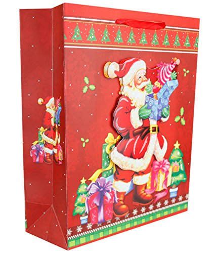 Bags 3 New Novelty Wrapping Party Gift Paper 1pc D Festive 1 1078 Christmas Xmas Stylish Style W4Bqn4IcP