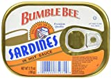 Cheap BUMBLE BEE Sardines in Hot Sauce, Wild Caught, High Protein Food, Keto Food and Snacks, Gluten Free Food, High Protein Snacks, Canned Food, Bulk Sardines, 3.75 Ounce Cans (Pack of 18)