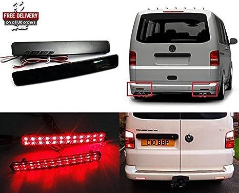 VW Transporter T5 fumée Pare-chocs arrière Réflecteur LED Feu stop stop Rouge