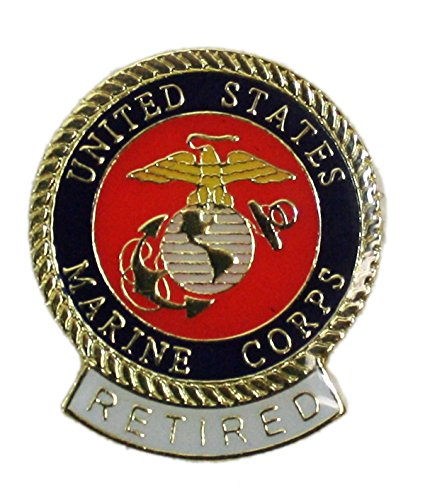 Ted and Jack - Wear It Proudly Ceramic and Metal Military Lapel Pin (USMC Retired)