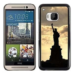 Be Good Phone Accessory // Dura Cáscara cubierta Protectora Caso Carcasa Funda de Protección para HTC One M9 // The Statue Of Liberty