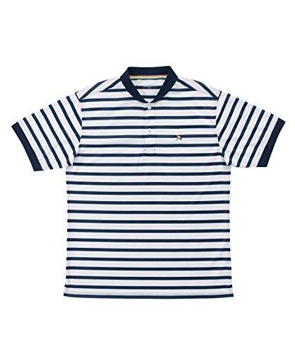 アーノルドパーマー メンズ ゴルフ ポロシャツ 半袖 ボーダーヘンリーネック半袖シャツ AP220101H04 NV/WT M