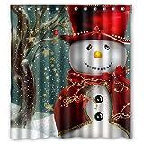 "Coromose Custom Merry Christmas Fabric Waterproof Bathroom Shower Curtain 66"" x 72"""