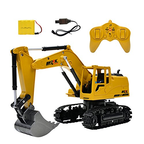 8 Channel Full Function 2 4G Wireless Remote Control Excavator Toy   Battery Powered Electric Rc Remote Control Construction Tractor With Lights   Sound