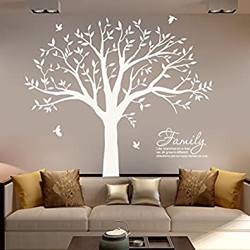 Amazoncom Mafent Family Tree Wall Decalfamily Branches Wall