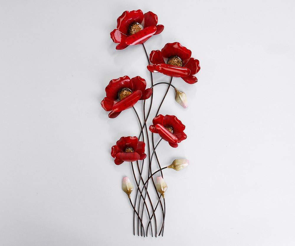 Article 673473 D/écoration murale de 66/cm Branches de coquelicots rouges