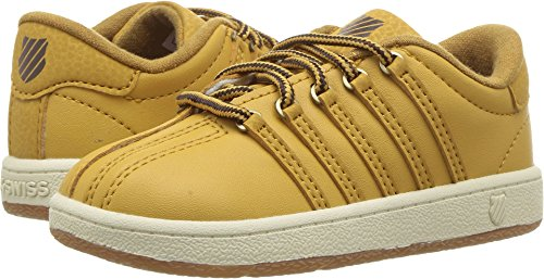 - K-Swiss Kids Unisex Classic VN (Infant/Toddler) Amber Gold/Chocolate/Antique White 9 Toddler M