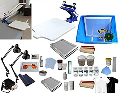 1 Color Screen Printing Full Set Materials Kit 219001+006802