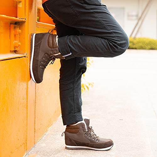Bottes de Neige Femme Fourees Mode Chaussure Homme Hiver Basse Baskets Bottines Hiver Chaude Doublure Plates Noir Bleu… 5