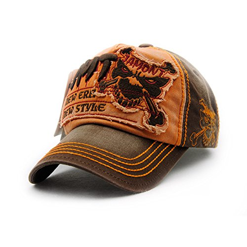 [Gorras Beisbol Planas Snapback Caps Wolf Bone Baseball Cap Golf Hats For Men Women Casquette Hip Hop Boys Homme Driver Sun Hat (Number 3 Orange)] (Mannequin Homme En Costume)
