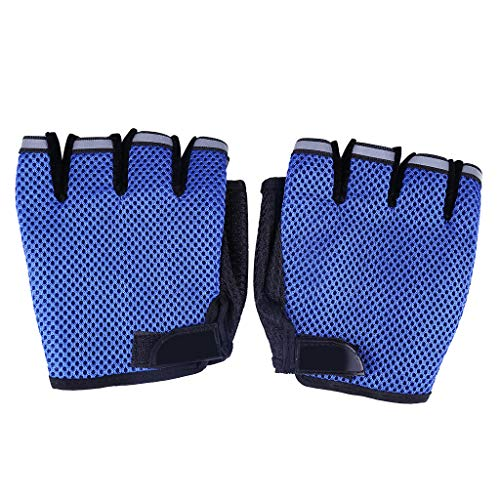 (Glumes Workout Gloves for Women and Men, Breathable and Anti-Slip Half Finger Sports Gloves, Training Gloves with Wrist Support for Fitness Exercise Weight Lifting)