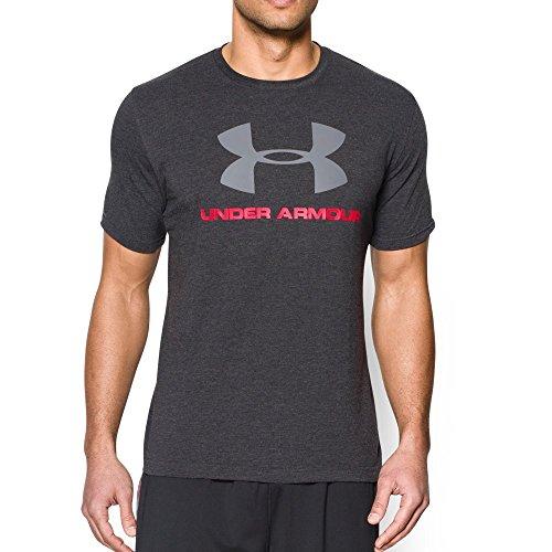 Under Armour Men's Sportstyle Logo T-Shirt,Black/Steel, Large