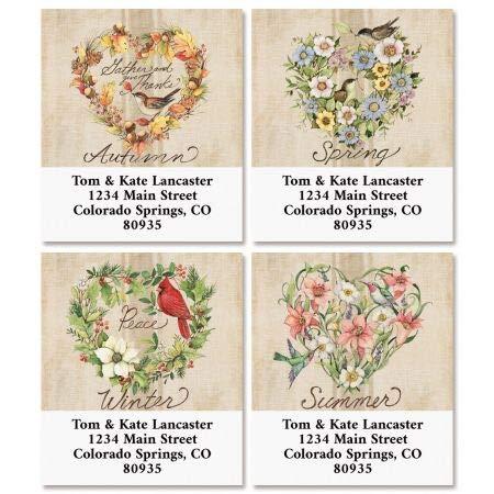 Season of Heart Select Return Address Labels (4 Designs) - Set of 144 1-1/8