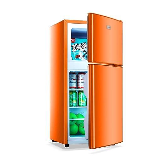 Mini nevera nevera Pequeño Doble Puerta del Refrigerador ...