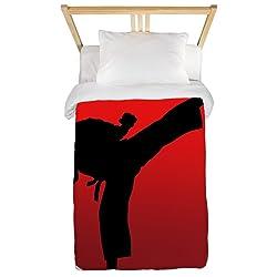 CafePress Karate Keri Twin Duvet Twin Duvet Cover, Printed Comforter Cover, Unique Bedding, Microfiber