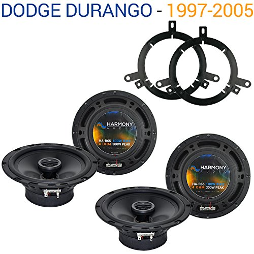 Fits Dodge Durango 2002-2003 Factory Speaker Replacement Harmony (2) R65 Package New