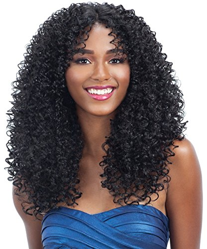 HARMONY 117 (1 Jet Black) - MilkyWay Human Hair Blend Lace Front Wig