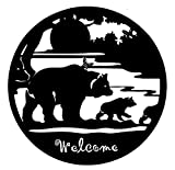 Cheap Bellaa 21871 Laser Cut Metal Bear Wall Art 24″ Inch Cabin Wilderness Welcome Indoor Outdoor Sculpture