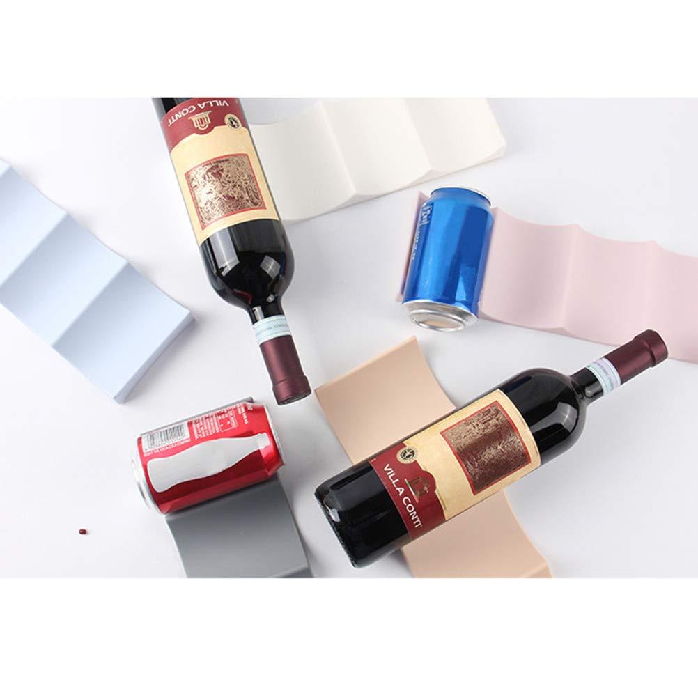 Blu Scuro BESTONZON Portabottiglie in plastica Stile Europeo Bottiglia di Acqua Display Mat Vino Titolare organizzatore di stoccaggio per Ripiani Cucina dispensa Frigorifero
