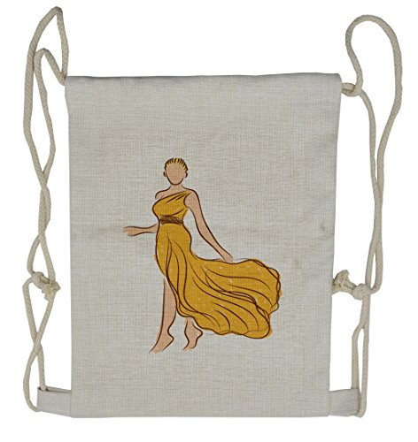 Lunarable Toga Party Drawstring Backpack, Model Sketch Roman Dress, Sackpack Bag]()
