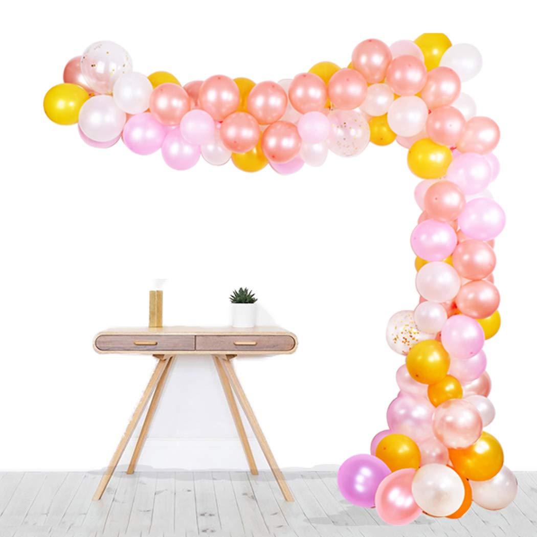 ghirlanda per palloncini compleanni colla. catena per palloncini decorazioni con nastro ghirlanda per matrimoni arco kit da 109 pezzi Palloncini rosa oro