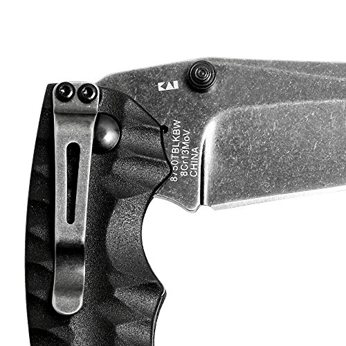 Kershaw Shuffle II (8750TBLKBW); Blackwash Multifunction Folding Pocket Knife, 2.6 In. 8Cr13MoV Stainless Steel Tanto Blade, Includes Thumbstud and Reversible Pocketclip; 3 oz.