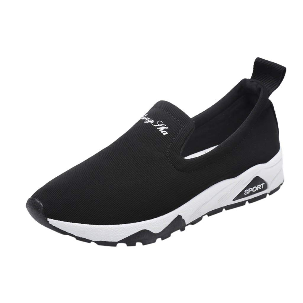 Loafers Sneakers for Women,SMALLE◕‿◕ Women's Slip-On Walking Shoes Nurse Shoes Casual Moccasin Driving Shoes Black