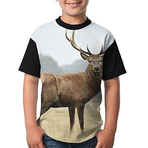 Teenager T Shirt Deer Art Teen Short Sleeve