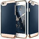 iPhone 6 Case, Caseology® [Savoy Series] Chrome / Microfiber Slider Case [Navy Blue] [Premium Rose Gold] for Apple iPhone 6 (2014) & iPhone 6S (2015) - Navy Blue