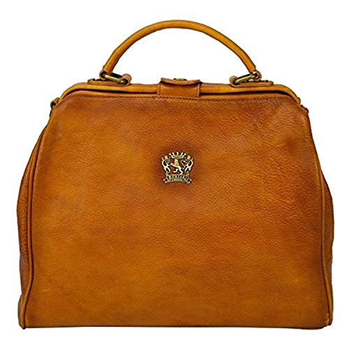 Pratesi Womens Italian Leather San Miniato - Transformer Bag (Cognac)