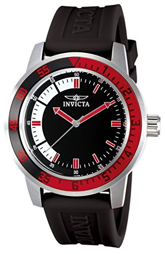 Invicta Men's 12845 Specialty Black Dial Watch with Red/Black Bezel - Invicta Bezel