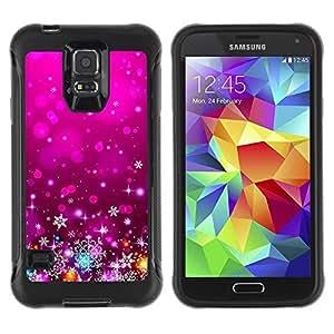 """Hypernova Defender Series TPU protection Cas Case Coque pour Samsung Galaxy S5 V [Púrpura de Navidad Navidad Decoración Luces""""]"""