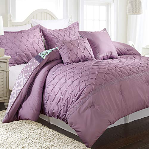 Stratford Park Zoe Comforter, Full/Queen, Lavender/Blue