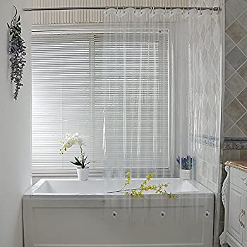 PEVA Shower Curtain Liner By Ufriday, Waterproof And Mildew Resistant And  Heavy Duty For