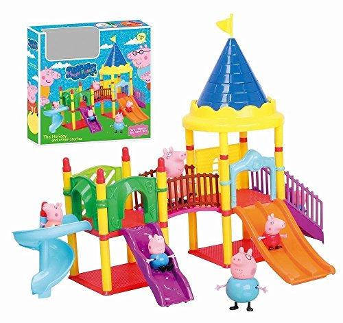 Phantomx Peppa Pig Amusement Park Playset Set With 4 Figures Toy Christmas Kids Gift Doll (Argos Christmas Sets Bedding)