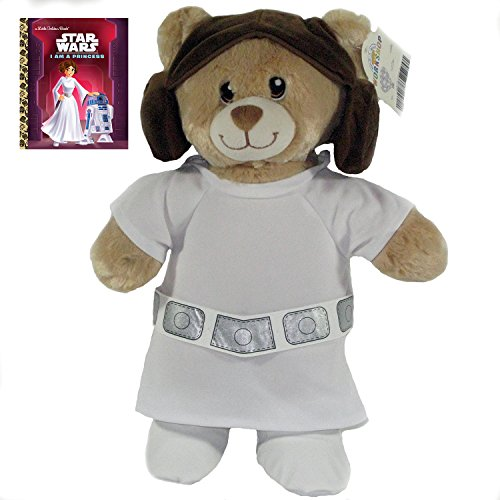 Build A Bear Princess Leia Star Wars Teddy Bear with FREE I Am A Princess (Stars Wars) Book