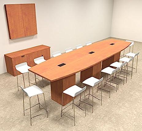Amazoncom Boat Shape Counter Height Feet Conference Table - Counter height conference table