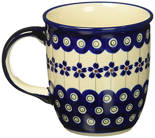 Polish Pottery Coffee Mug (Hand Painted Pottery)