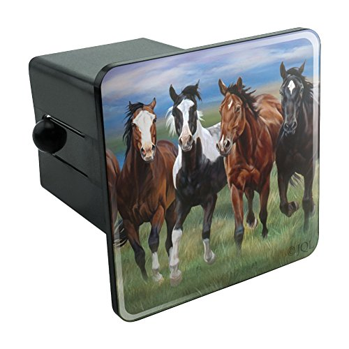 Graphics and More Horses Running Wild Tow Trailer Hitch Cover Plug Insert 2