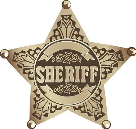Sheriff Police Pattern Star Emblem Sign Hochwertigen Auto Autoaufkleber 12 X 12 Cm Küche Haushalt